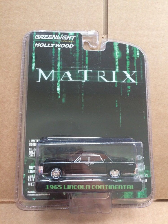 GREENLIGHT HOLLYWOOD DIECAST - THE MATRIX - 1965 Lincoln Continental