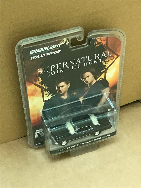 GREENLIGHT HOLLYWOOD DIECAST - SUPERNATURAL - 1967 Chevrolet Impala Sport Sedan