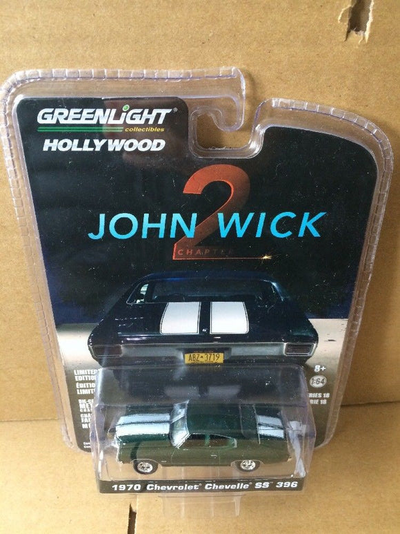 GREENLIGHT HOLLYWOOD DIECAST - JOHN WICK 2 - 1970 Chevrolet Chevelle SS 396