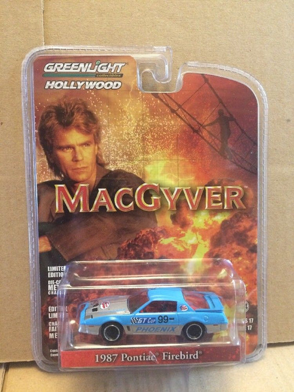 GREENLIGHT HOLLYWOOD DIECAST - MACGYVER - 1987 Pontiac Firebird