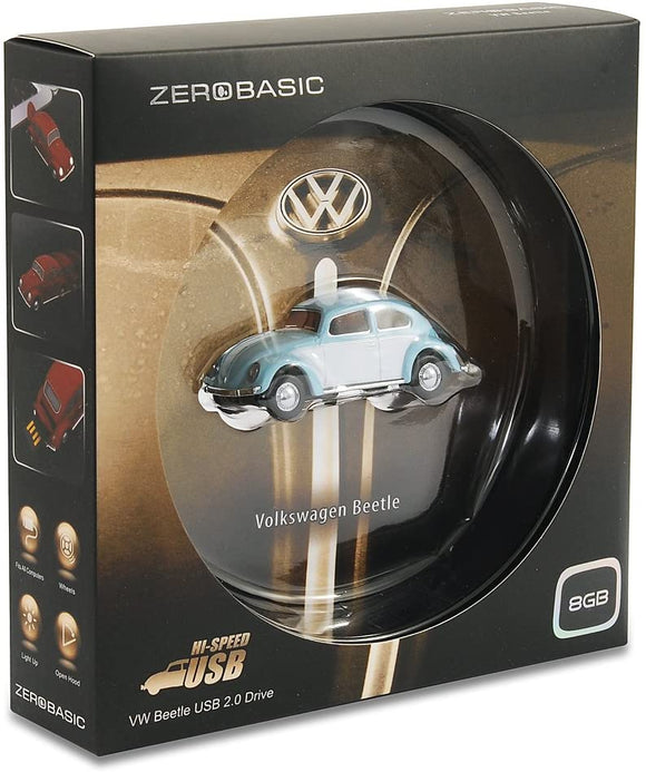 USB Drive 8GB - Volkswagen Beetle Blue and White