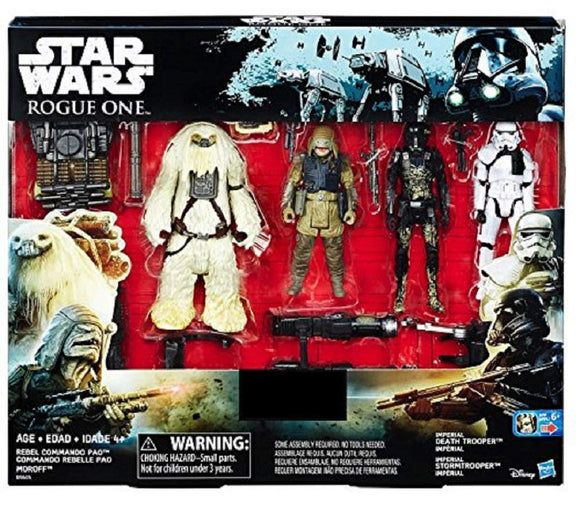 Star Wars Rogue One - 4 pack with Rebel Commando Pao and Moroff