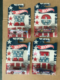 HOT WHEELS DIECAST - 50th Anniversary Stars and Stripes Set Of 10