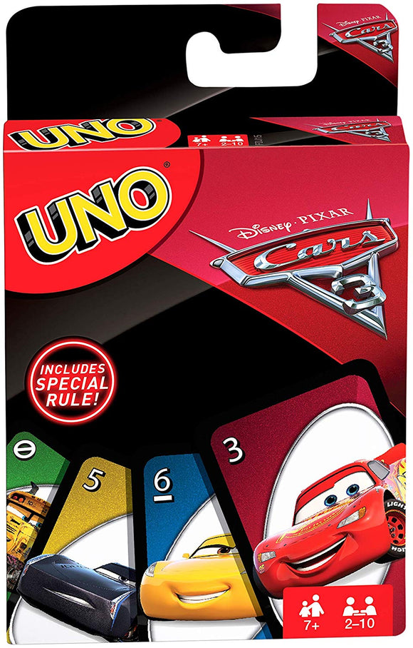 DISNEY CARS 3 - Uno card game - FDJ15