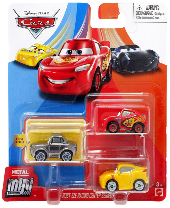 DISNEY CARS Mini Racers - set of 3 with LMQ Cruz Sterling