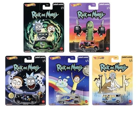HOT WHEELS DIECAST - Pop Culture - Rick and Morty set of 5