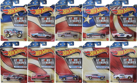 HOT WHEELS DIECAST - Stars and Stripes 2020 edition Set Of 10