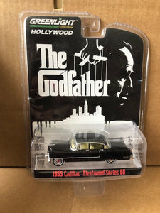 GREENLIGHT HOLLYWOOD DIECAST - The Godfather 1955 Cadillac Fleetwood Series 60