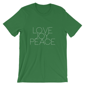 LOVE JOY PEACE Unisex T-shirt