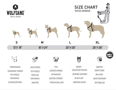 Find The Right Size Wolfgang Collar, Leash & Harnesses ...