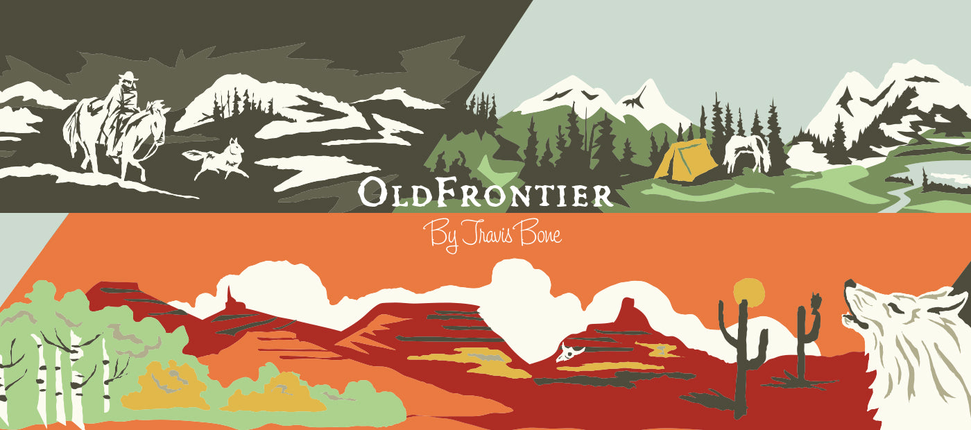 illustration of Wild West images linked to Old frontier product series