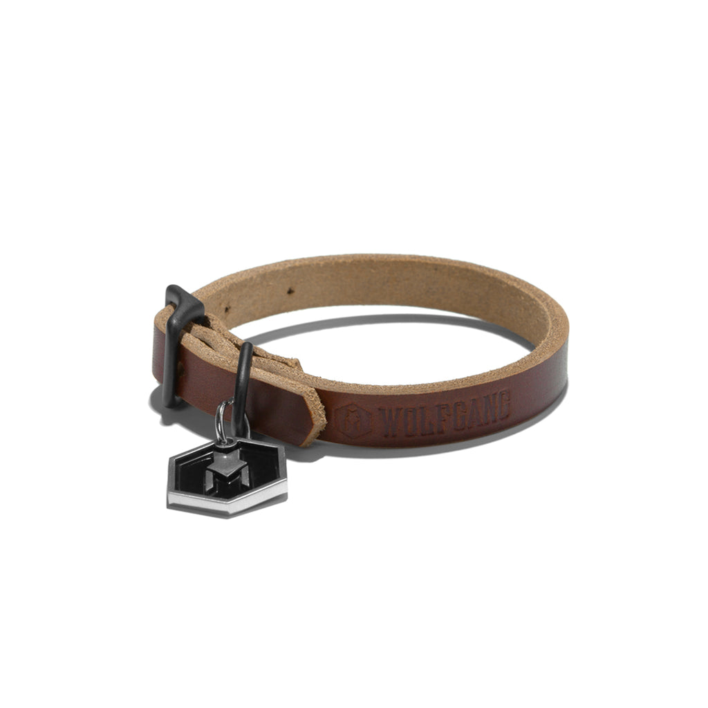 Wolfgang Horween leather tan extra-small dog collar.