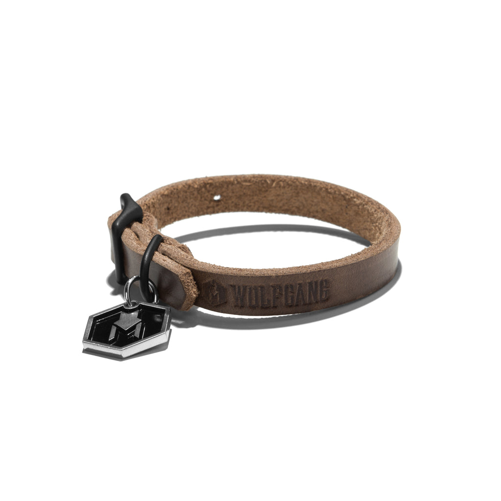 Horween Leather Natural Color DOG COLLAR Made in the USA by Wolfgang Man & Beast