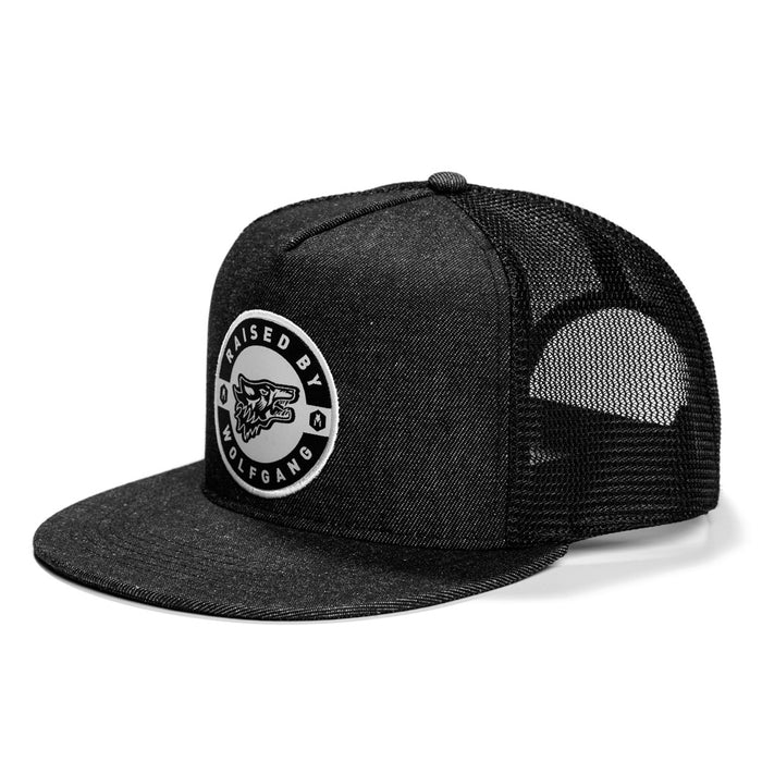 RaisedBy SNAPBACK TRUCKER HAT Made in the USA by Wolfgang Man & Beast