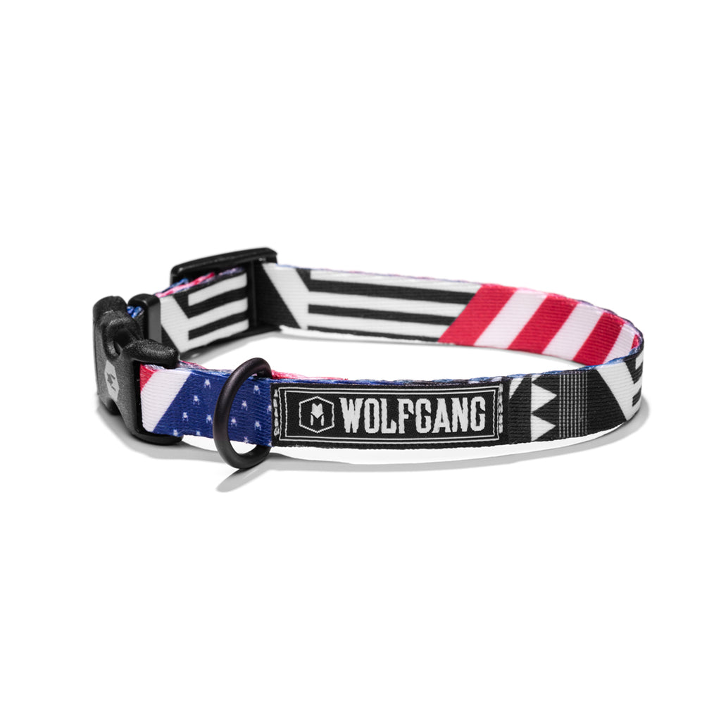 PledgeAllegiance DOG COLLAR Made in the USA by Wolfgang Man & Beast