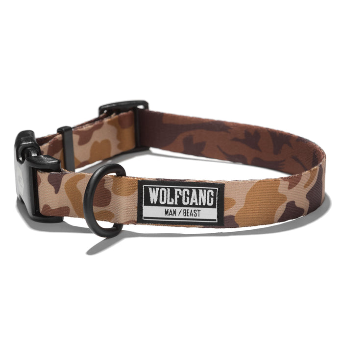 Wolfgang woodland camo DuckBlind medium & large dog collar.