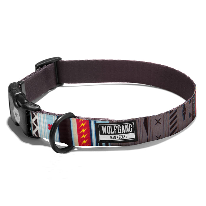 Wolfgang native artwork print NativeLines medium & large dog collar.