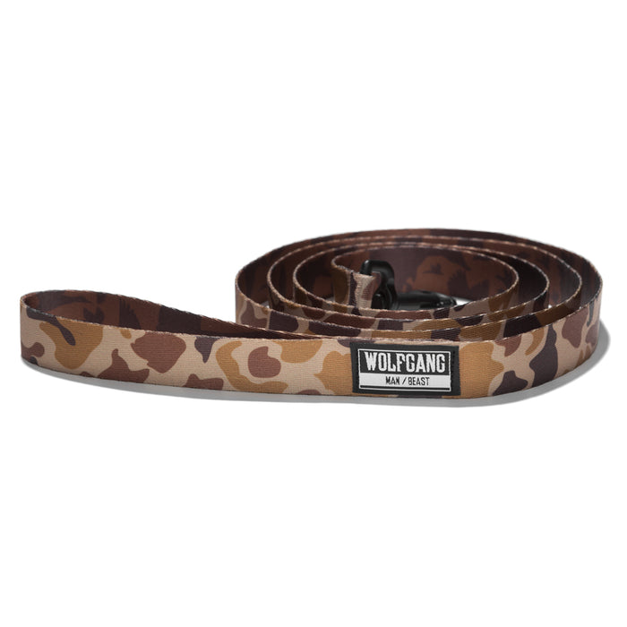 Wolfgang woodland camo DuckBlind medium & large dog leash.