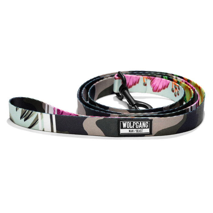 Wolfgang camo/floral StreetLogic 6-foot dog leash.