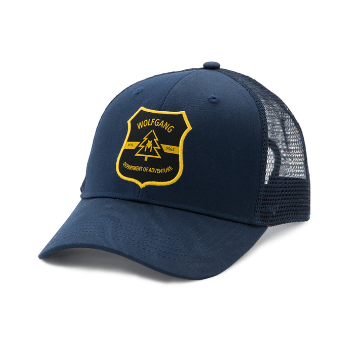 MtnDogs CURVED-BRIM SNAPBACK TRUCKER HAT-Wolfgang Man & Beast