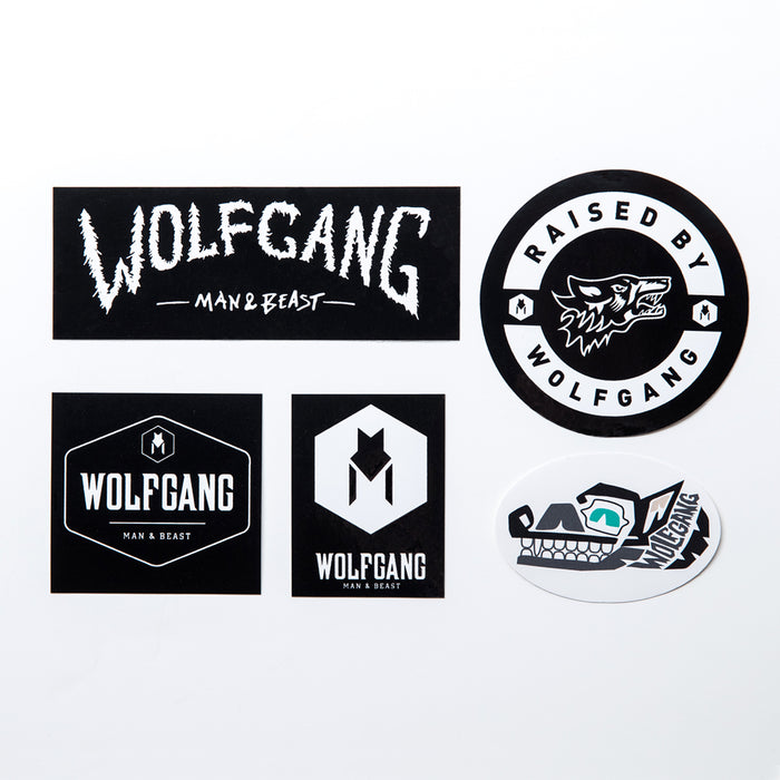 StarterPack Wolfgang Sticker 5 Pack Made in the USA by Wolfgang Man & Beast