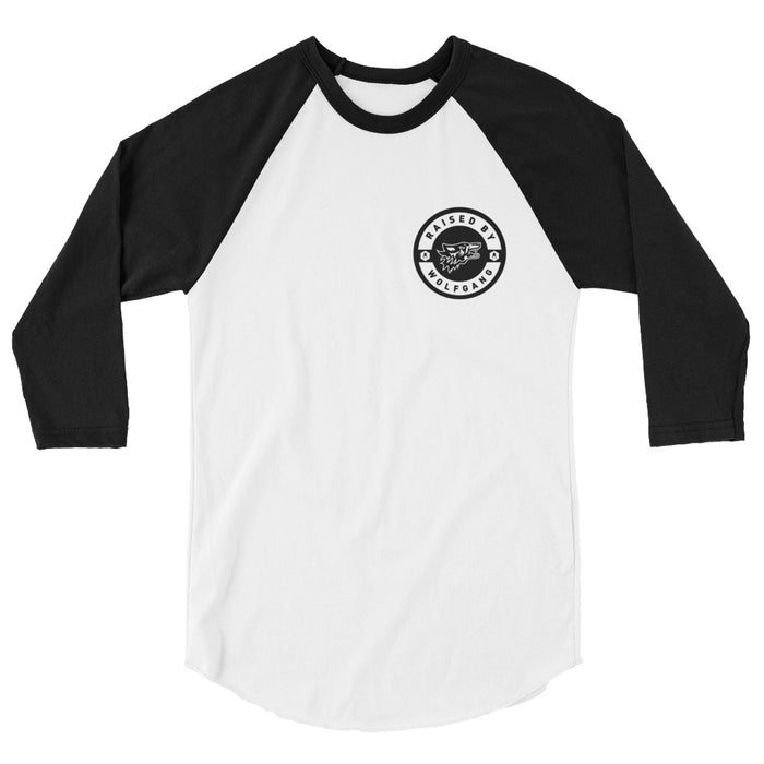 RaisedBy 3/4 SLEEVE RAGLAN MEN'S T-SHIRT Made in the USA by Wolfgang Man & Beast