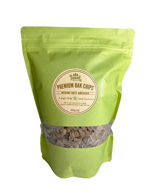 Oak Chips - Medium Toast - Large Grade 454g