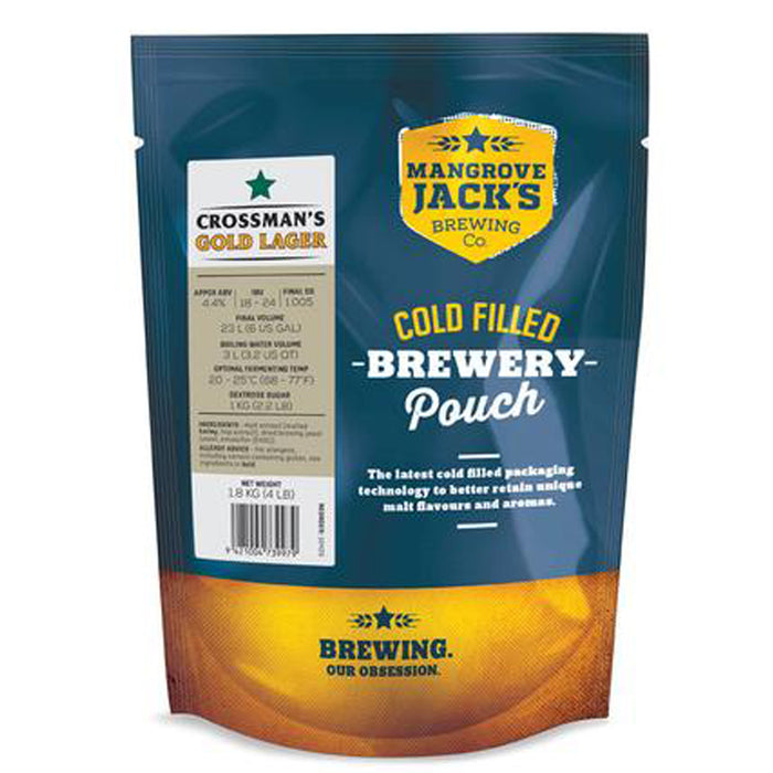 Mangrove Jack's Brew Pouch - Crossmans Gold Lager