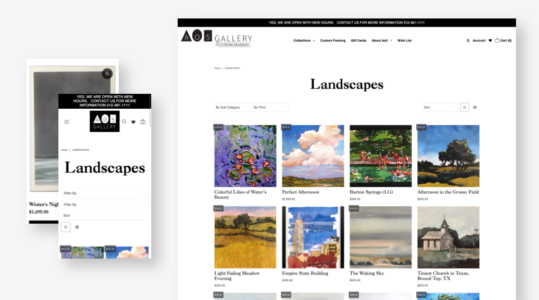 A05 website collections