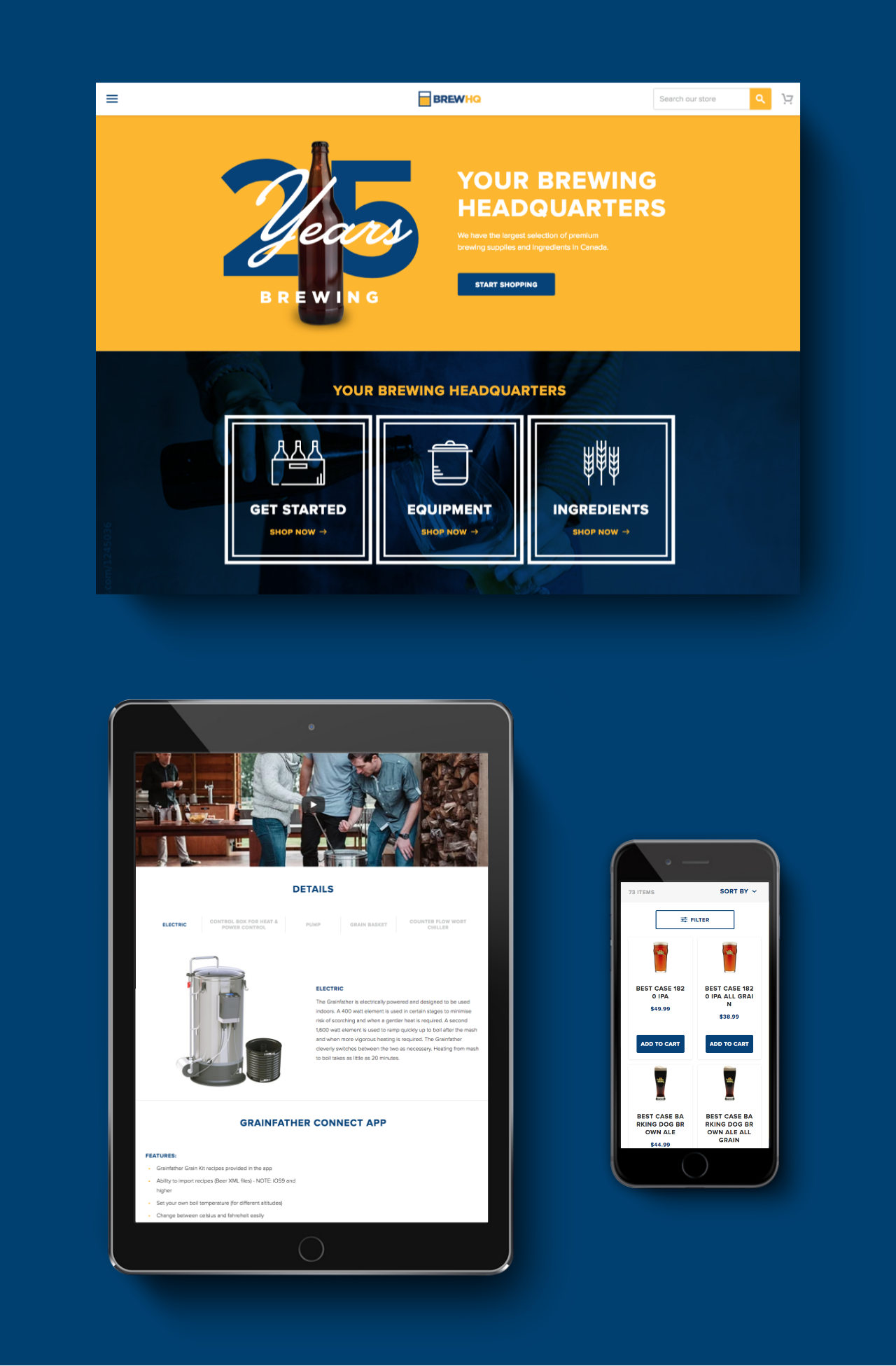 The BrewHQ custom Shopify Plus theme