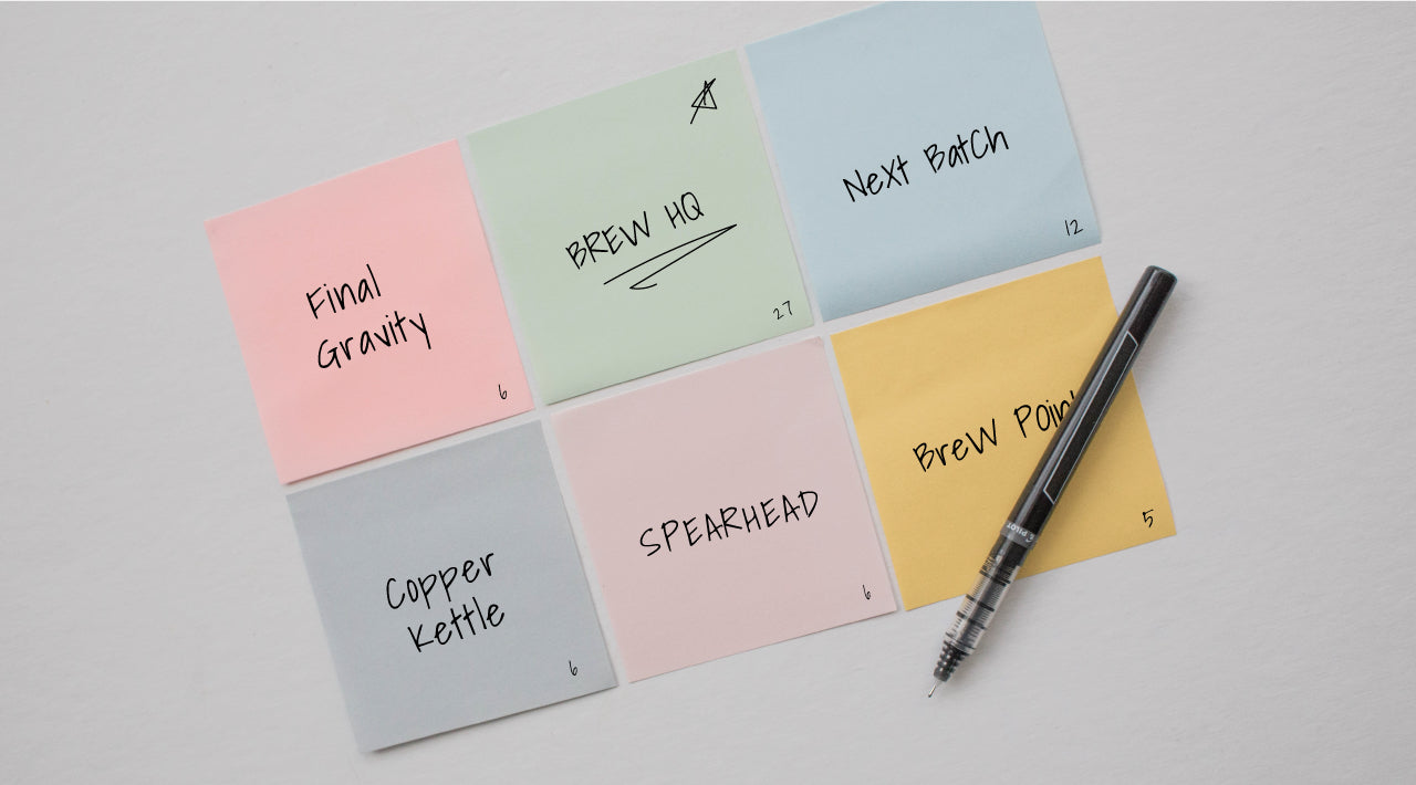 Picture of sticky notes