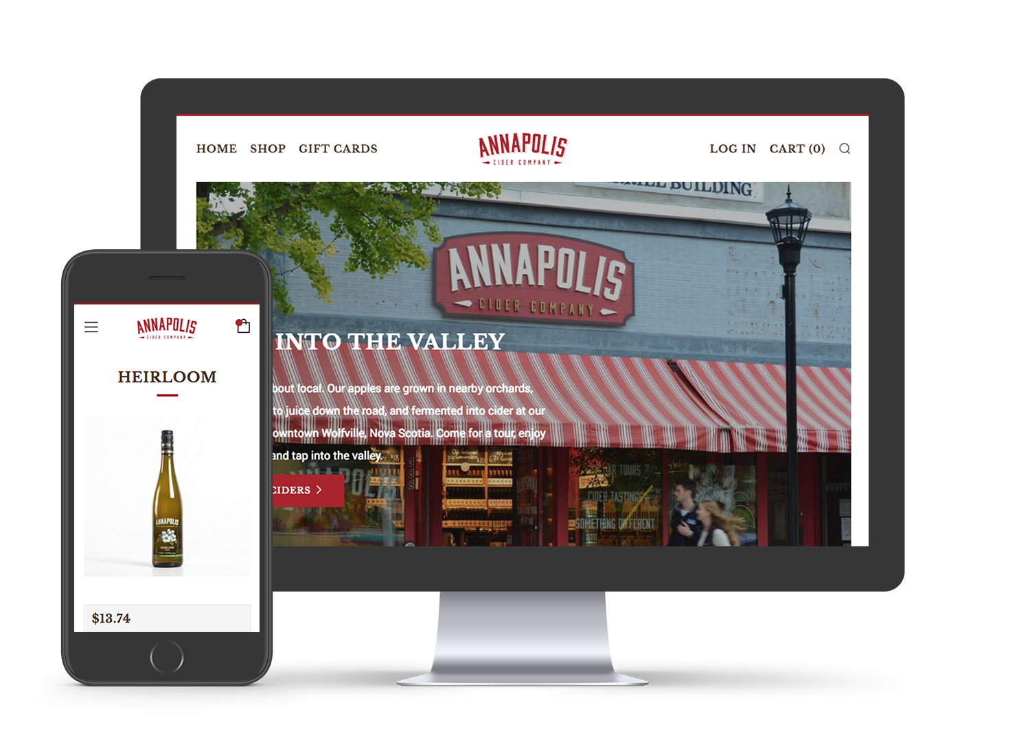The Annapolis Cider Company Shopify Site