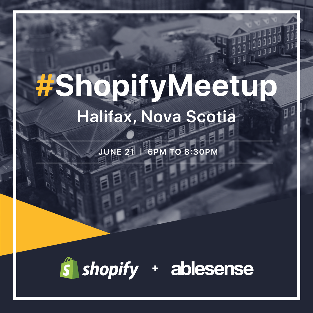 An invitation to the Halifax Shopify Meetup