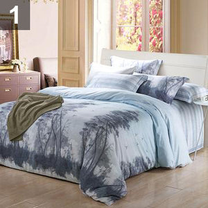 4-PIECE LUXURY SOFT 100% BAMBOO BED SHEETS + DUVET COVER + PILLOWCASES