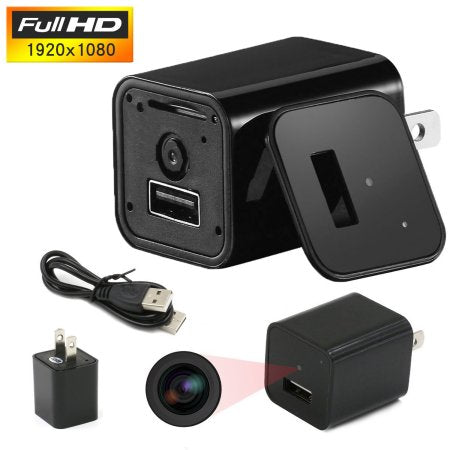 1080P 32G Mini Charger USB Camera Spy Cam