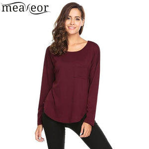 Relaxed Fit Knit High-Low Top in 3 Colors