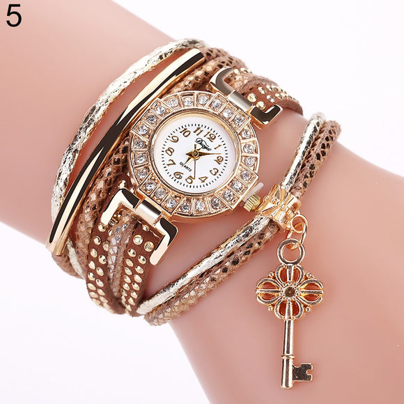 LIMITED EDITION LOCK AND KEY WATCH WITH UNIQUE FLOWER BRACELET - FOR WOMEN