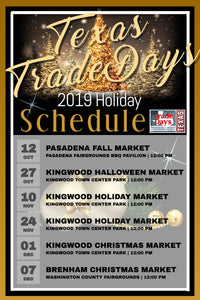2019 HOLIDAY MARKET SCHEDULE