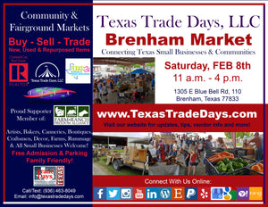 MARKET DAY: Brenham - Washington County Fairgrounds