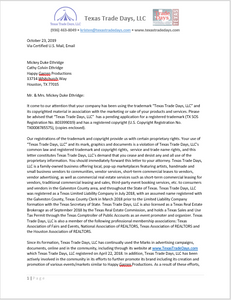 Happy Garren Productions - CEASE & DESIST LETTER - Website Notice