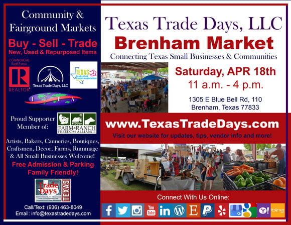 April 18, 2020 Brenham Market