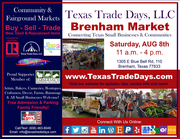 August 8, 2020 Brenham Market