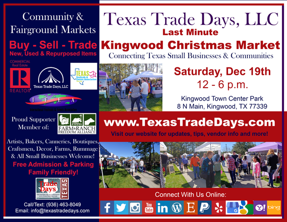 SAT December 19, 2020 Kingwood Market