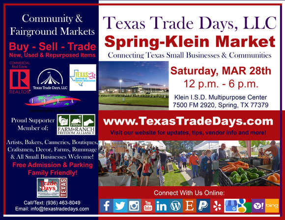 March 28, 2020 Spring-Klein Market