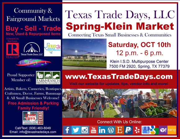 October 10, 2020 Spring-Klein Market