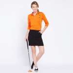 Golf Skort With Front And Back Pockets - Black