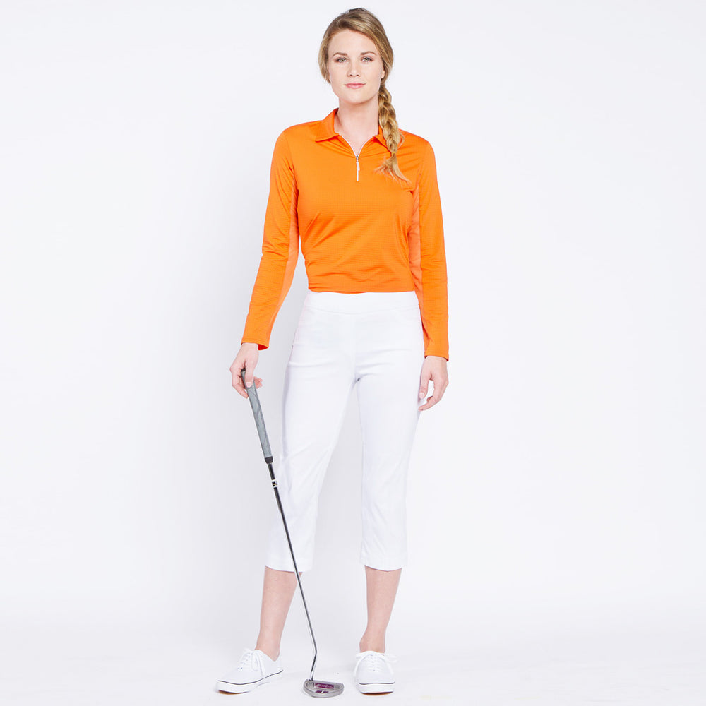 Golf Capri with Pockets - White