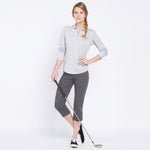 Golf Capri with Pockets - Charcoal