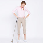 Golf Capri with Pockets - Stone