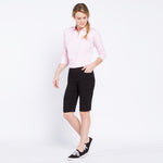 Pull On Solid Golf Walking Short - Black